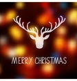 Merry Christmas card template with a deer vector image vector image
