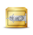 metal safe realistic gold deposit box for vector image vector image