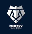 modern logo luxury lion head and diamond vector image