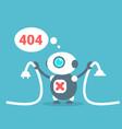 modern robot connection error message artificial vector image