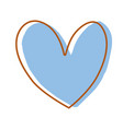 nice heart element icon design vector image vector image