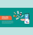 online drugstore pharmacy concept vector image