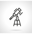 Optical telescope black line icon vector image