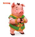 pig funny animal in chinese zodiac chinese vector image