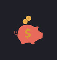 Piggy bank computer symbol vector image vector image