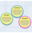 Presentation template with three options vector image