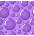 Purple round bubble seamless pattern vector image vector image