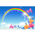 Rainbow in the sky vector image vector image