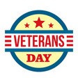 round veterans day logo flat style vector image