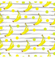 seamless pattern with banana fruit vector image vector image