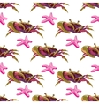 Seamless pattern with crabs and starfish vector image