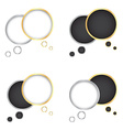 set of gold and silver bubbles for a chat with a vector image vector image
