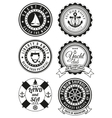 set round badges for sea and yacht club vector image