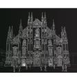 Sketch Milan Cathedral vector image vector image
