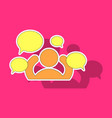 sticker social network icon people network icon vector image