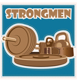 strongman jeans vector image vector image