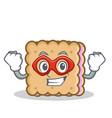 super hero biscuit cartoon character style vector image vector image