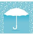 Umbrella design over blue background vector image