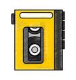 walkman cassette player icon vector image vector image