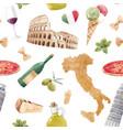 watercolor italian pattern vector image