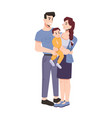 young family father mother and toddler kid vector image