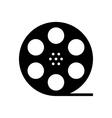 black film reel silhouette vector image