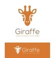 Giraffe Head Logo vector image