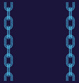 abstract chain background vector image vector image