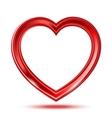 Abstract shiny hearts shape vector image vector image