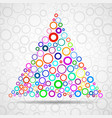 abstract triangle of color circles vector image vector image