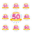 anniversary emblems creative layout vector image