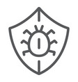 antivirus line icon security and protection vector image