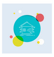 automation home house smart network white line vector image