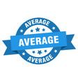 average ribbon average round blue sign average vector image vector image