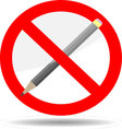 Ban write pencil vector image