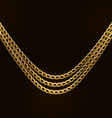 Beautiful Golden Chains Isolated on Black vector image vector image