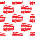 british pattern with double decker red bus vector image