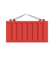 cargo container red isolated iso-container metal vector image vector image