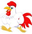 cartoon rooster running vector image