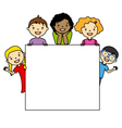 Children holding board vector image vector image