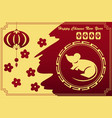 chinese new year design for year rat vector image vector image