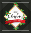 christmas and happy new year template for greeting vector image vector image