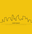 city on a yellow background vector image