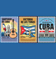 cuba and havana vacation travel tour retro banners vector image vector image