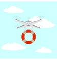 Drone and lifeline vector image vector image