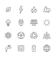 Ecology and Energy Icons vector image vector image