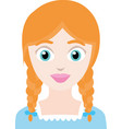 emoticon a red haired girl vector image vector image