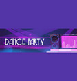 flyer dance party with dj music in night club vector image