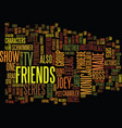 friends tv text background word cloud concept vector image vector image