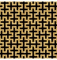 golden oriental swastika pattern vector image vector image